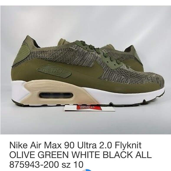 Nike Air Max 90 Ultra 2.0 Flyknit Olive Green NWT